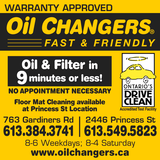 Oil Changers Kitchener Review