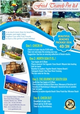 Beach Packages Goa Fred Travels Shop G-7, Kurtarkar Galaxy, Near Green House Margao, Colva Road Vanelim,