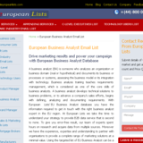 Business Analyst Email List