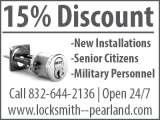 Pricelists of Locksmith Services In Pearland