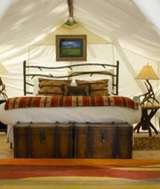 Bell Glamping Tent interior