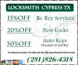 Pricelists of Locksmith & Lockout Service in Cypress