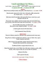 Pricelists of Sorrento Restaurant a taste of Italy