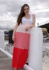 Multi Tiered Maternity Maxi Dress by Lilly B