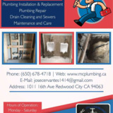 Tubs, sinks, toilet and shower repair Redwood City CA | MC Plumbing