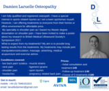 Pricelists of Damien Laruelle Osteopathy