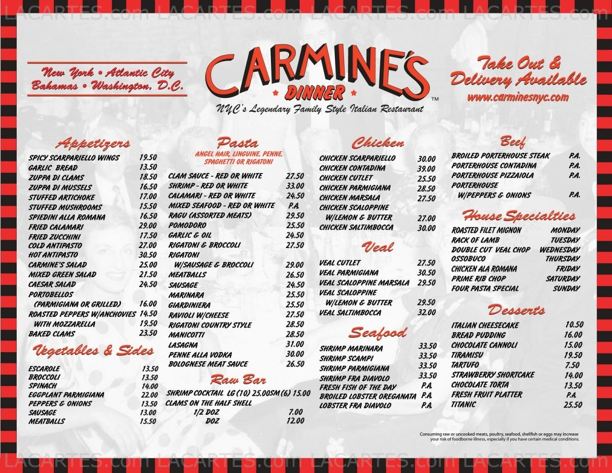 Carmines Restaurant Nyc 2017 2018 Best Cars Reviews