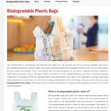 bio degradable plastic bags