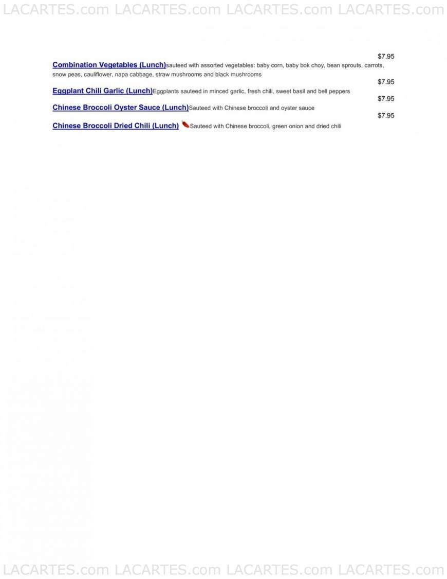Thai Lovers Restaurant San Jose Price Lists Page 9 of 9