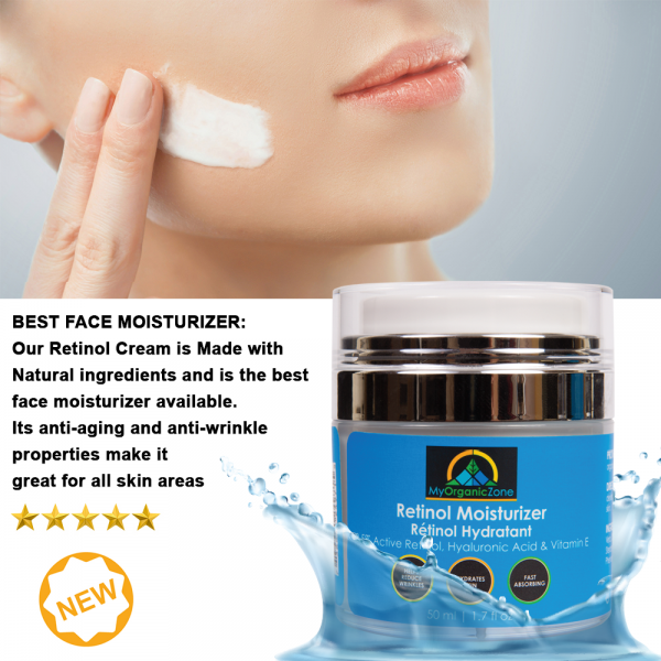 Retinol Moisturizer Cream, Best Face Moisturizer  of My Organic Zone - All Natural Skin Care and Beauty Products 6155 Tomken Rd, Unit 7 - Photo 1 of 4