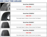 Pricelists of Tyre Retailers and Tyre Stores Adelaide - Cluse Bros