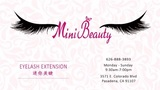 Mini Beauty Eyelash Business Card