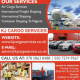KJ Cargo Services |Air Cargo Services London