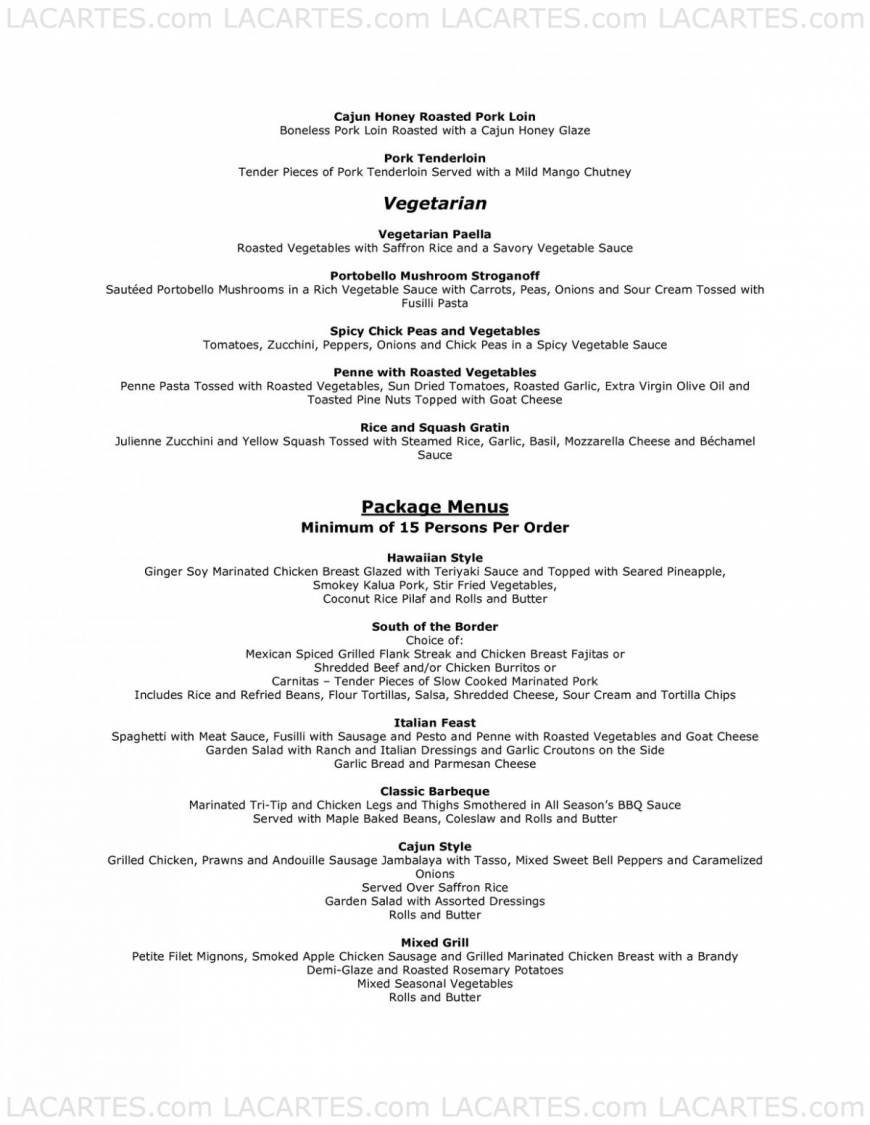 Pricelists of All Season's cafe & Catering 1758 Junction Avenue suit AA - Photo 12 of 13