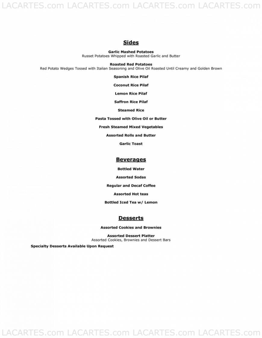 Pricelists of All Season's cafe & Catering 1758 Junction Avenue suit AA - Photo 13 of 13