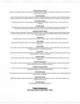 Pricelists of All Season's cafe & Catering