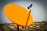 The Satellite Signal Receiver Dish for Television