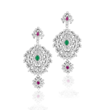Silver Earrings of Tiara Fashion Jewellery