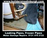 leaking cold water tank to floor, water damage restoration