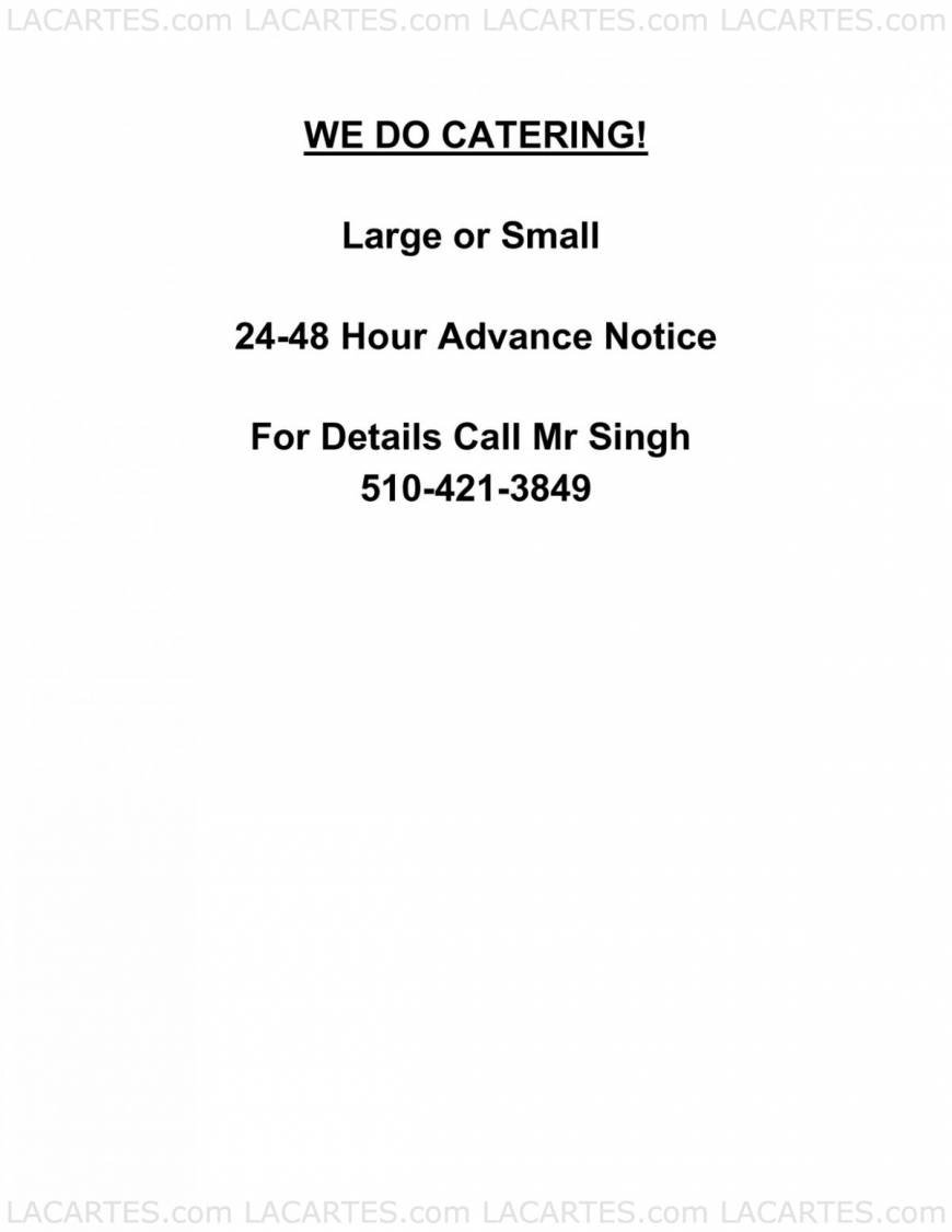 India Palace Superb Indian Cuisine Alameda Price Lists Page 10 of 10