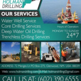 HOLMAN DRILLING | Water wells drilling in Glenwood