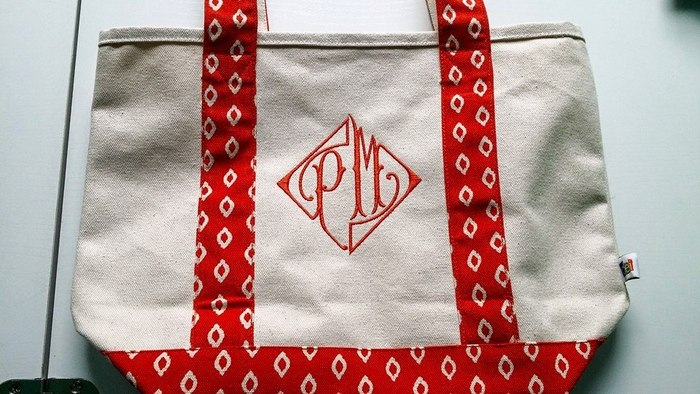 Monogrammed Tote Bags of Stitchin Chicks Embroidery 5930 Bent Trail - Photo 1 of 5