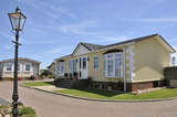 Residential mobile home park in South East England.  Generally this type of caravan park estate is for home owners over the age of fifty years.