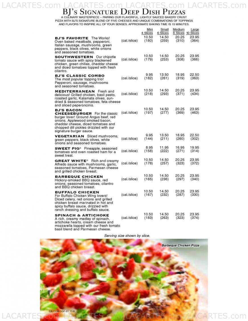 4 of 12 Price Lists & Menus – Bj's Restaurant & Brewhouse