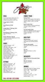Pricelists of Jakes Tex-Mex Cafe