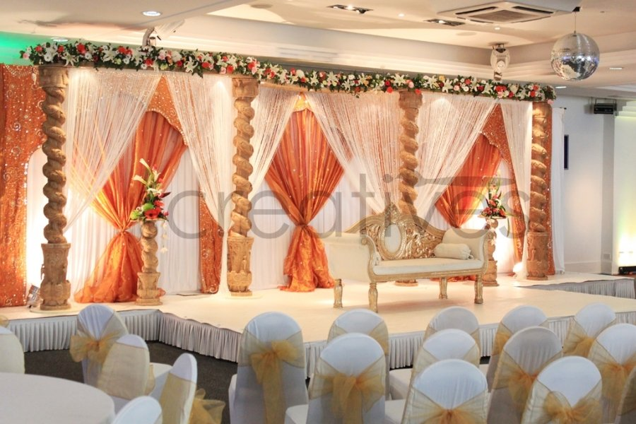 Om-creatives Wedding decorations UK - Kingsbury Mandap Asian