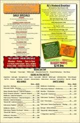 Pricelists of RJ's Bar & Grill