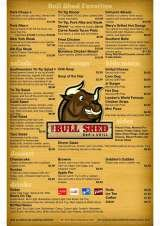 Pricelists of The Bull Shed Bar & Grill