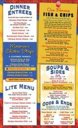 Pricelists of Mossman's Coffee Shop & Catering Company