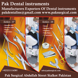 Pricelists of Pak Dental instruments