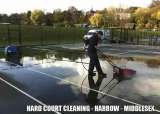 Hard tennis court cleaning, repairs and rejuvenation on Macadam and acrylic courts