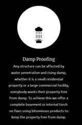 Damp Proofing Services J Warwick Waterproofing and Roofing Specialists 44 Park Close Road