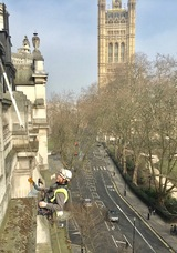 Rope Access Window Cleaning - Westminster London