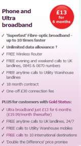 Pricelists of Utility Warehouse