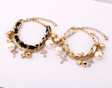 Leather Braided Gold Pearl Bracelet Top Collections Co., Ltd. 瑪莎精品有限公司 9F-2, 129, Cheng Kung Rd.