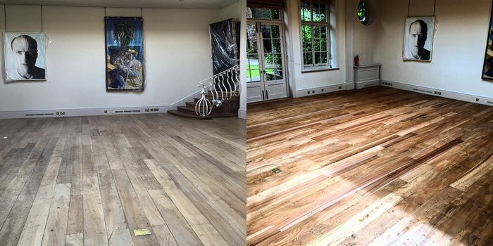 Before and After: Floor Restoration for an Art Gallery Profile Photos of Quicksand Flooring 27 Old Gloucester Street - Photo 3 of 4