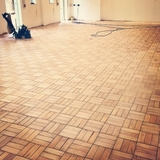 Basketweave Pattern Hardwood Flooring Sanded and Restored