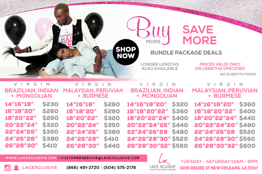Pricelists of Lace Xclusive Salon Barber & Spa 1506 Desire St. - Photo 2 of 8