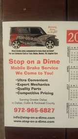 Dallas Brakes of Stop on a Dime LLC