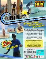 Pricelists of Pipeline Surf School Cancun