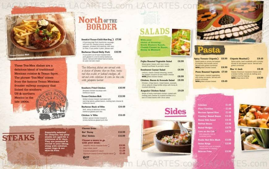 Pricelists Of Chiquito Mexican Restaurant Bar Southampton Ocean Village Photo 7 18