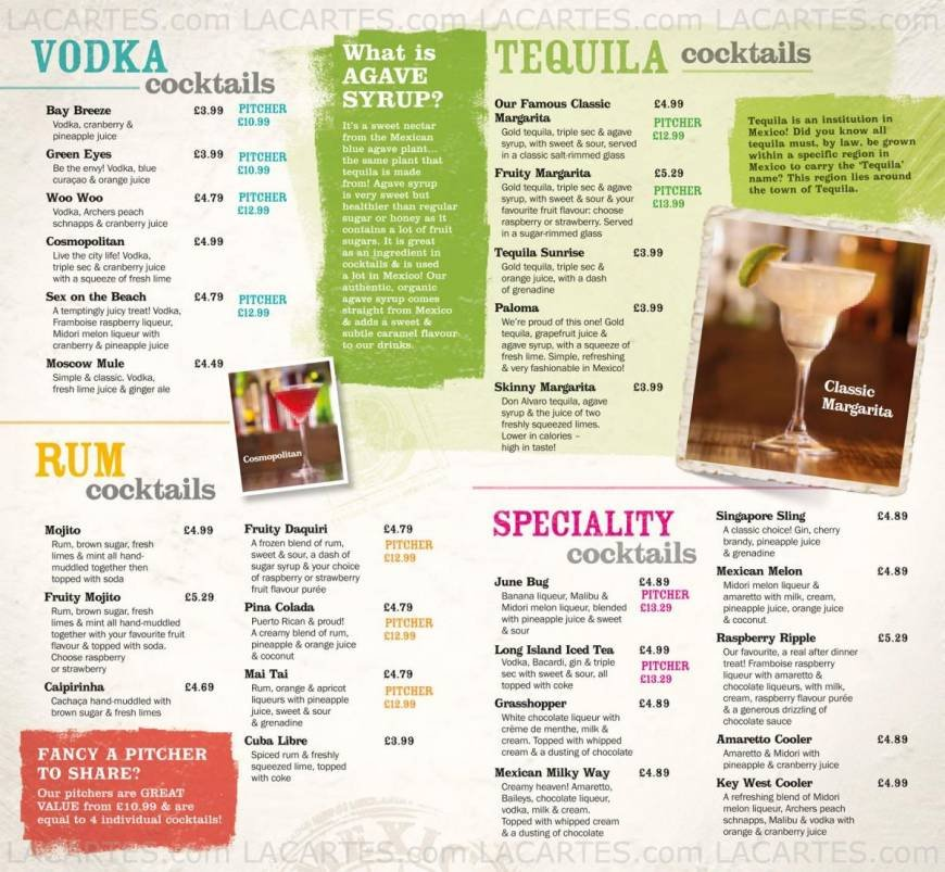 Pricelists Of Chiquito Mexican Restaurant Bar Southampton Ocean Village Photo 11 18