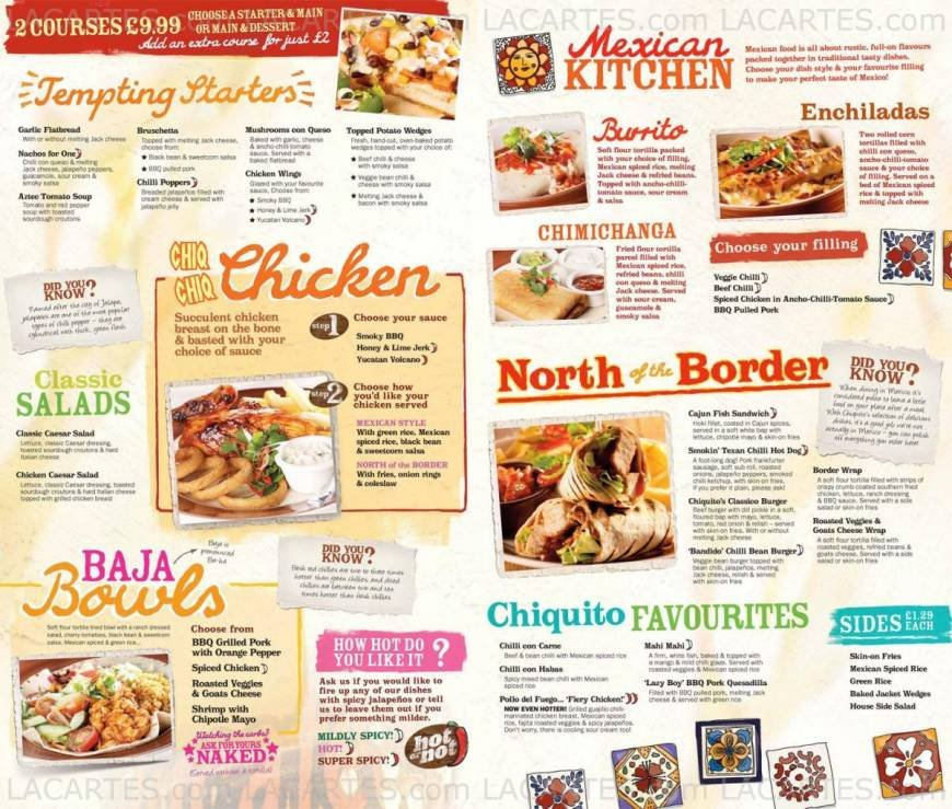Pricelists Of Chiquito Mexican Restaurant Bar Southampton Ocean Village Photo 15 18