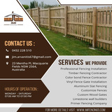 Profile Photos of Aluminum Slat Fencing| J & M Fencing