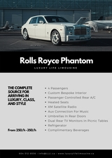 Pricelists of Luxury Life Limousine