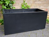 Polystone Patio Box Black trough planters